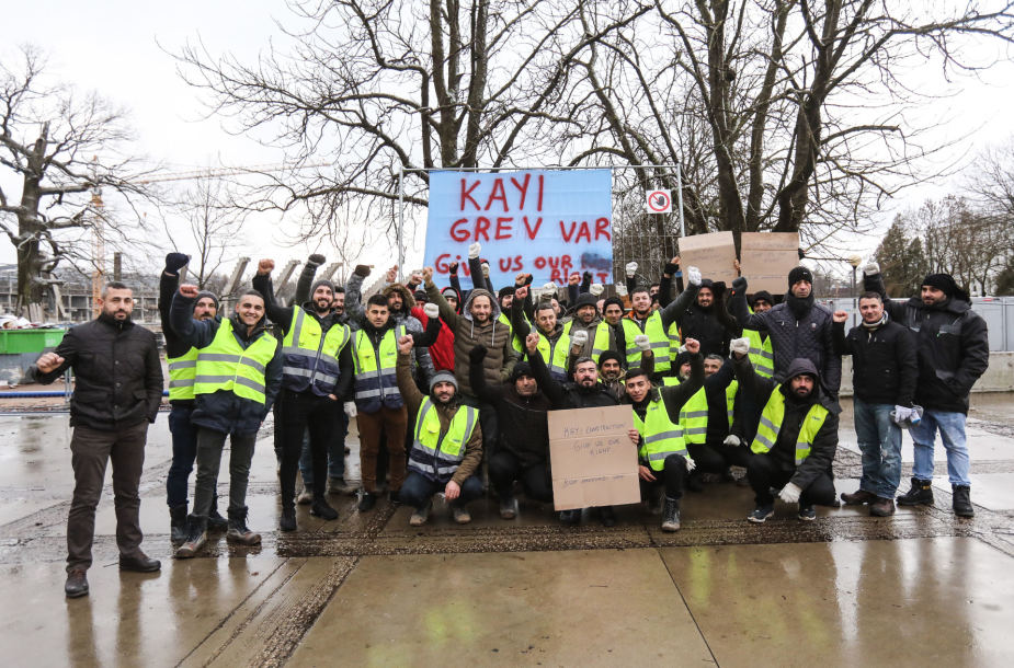 "Call for Support for Workers of the Turkish company ""Kayi Construction"""